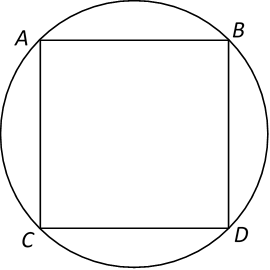 ABCD is a square.